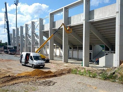 Neubau Südtribüne Stadion Gellertstraße