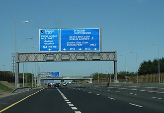 M50 motorway (Ireland) - 4-lane section of M50