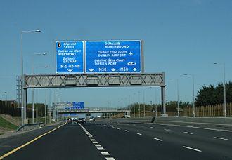M50 motorway (Ireland) - 4-lane section of M50