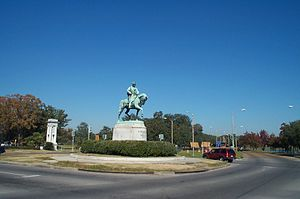 Carrollton Avenue - Equestrian statue of P.G.T. Beauregard by Alexander Doyle is at the inland end of Carrollton Avenue where it intersects with Esplanade at the entrance to City Park.