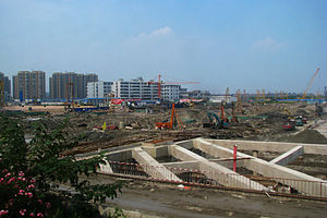 New Hangzhou East Railway Station in construction.jpg