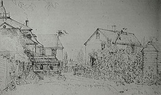 Charles Alexandre Lesueur - New Harmony, Indiana, in the year 1831. Sketch from Charles Alexandre Lesueur.