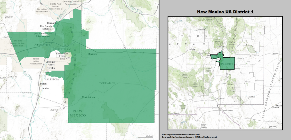 New Mexicos St Congressional District Wikipedia - New mexico in us map