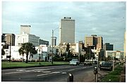 New Orleans 1977 Basin Street looking towards Canal Street