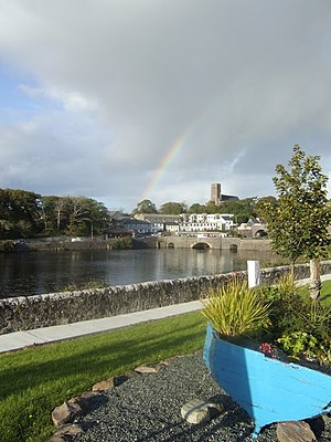 Newport, County Mayo - View across the harbour of the town, 2007