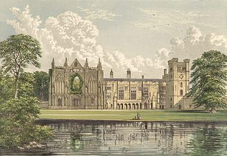 Newstead Abbey - Newstead Abbey in 1880.