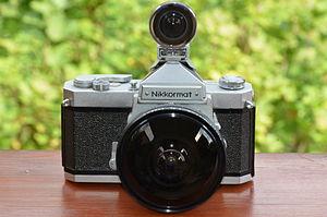 Nikkormat - Nikkormat FT SLR camera with Fisheye-NIKKOR 1:5,6 f=7,5mm and finder
