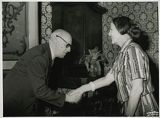 Paolo Baffi - Paolo Baffi with Nilde Iotti, President of the Italian Chamber of Deputies, 1979