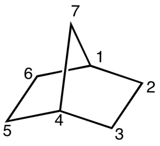 Bicyclic molecule - Image: Norbornane Numbering