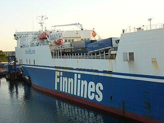 Finnlines - MS Lübeck Link, used on Nordö Link service until 2007.