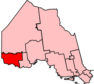 Kenora—Rainy River (provincial electoral district) - Kenora—Rainy River in relation to other Northern Ontario electoral districts