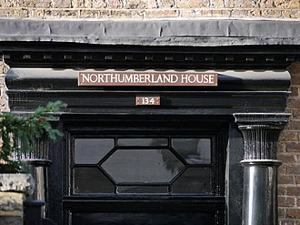 Northumberland House, Fulham - Door detail