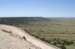 Northwest escarpment of the Llano Estacado