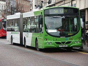 Wrightbus - Nottingham City Transport Scania L94UA in Nottingham in January 2003