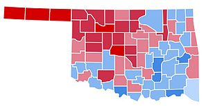 United States presidential election in Oklahoma, 1988 - Image: OK1988