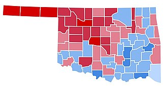 1988 United States presidential election in Oklahoma - Image: OK1988