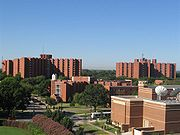 The Walker, Honors and Adams dorm buildings make up three of the school's residential halls.