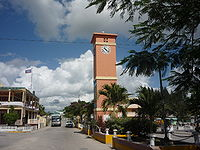 Main square, Orange Walk Town, Belize