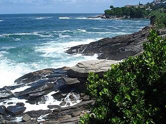 Rocky shore - Rocky shore in Leblon, Brazil