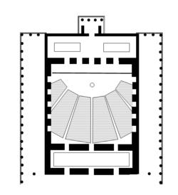 Floor plan of the original Odeon of Agrippa