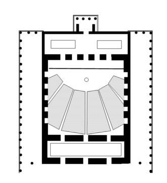 Odeon of Agrippa - Floor plan of the original Odeon of Agrippa
