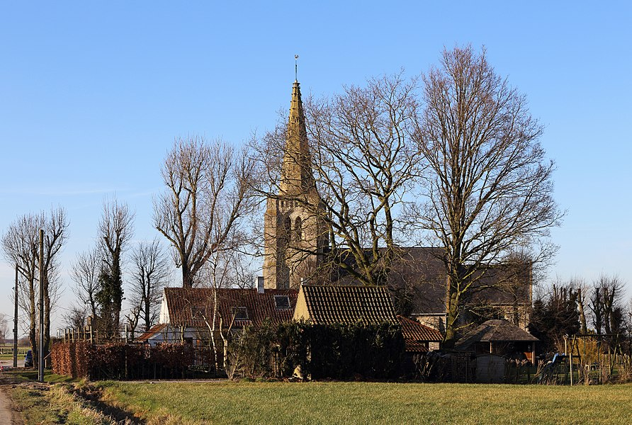 Oeren (municipality of Alveringem, province of West Flanders, Belgium): St Apollonia church