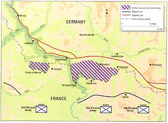 Saar Offensive - Disposition of French forces