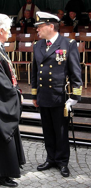 Belgian Navy - An officer of the Belgian Marine Component