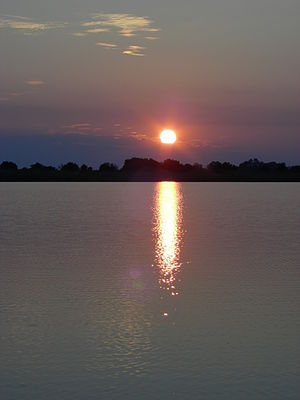 Sunset in Botswana, Okavango Delta