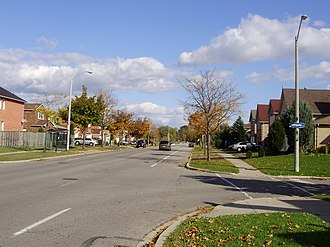 Rouge, Toronto - A residential area of Rouge. Developed areas of Rouge are largely suburban.