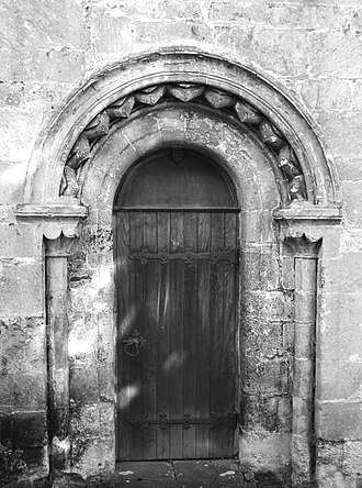 Horton Court - Image: Old Side Door, Horton Court, Horton, Gloucestershire 2014 (geograph 5330556)