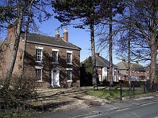 Lunt village in the Metropolitan Borough of Sefton, in Merseyside, England