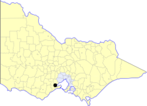 City of Geelong - Location in Victoria