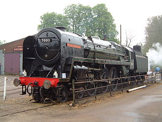 Bressingham Steam and Gardens - 70013, Oliver Cromwell, at Bressingham, May 2004