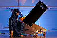 One of the launch telescopes for the VLT Four Laser Guide Star Facility.jpg