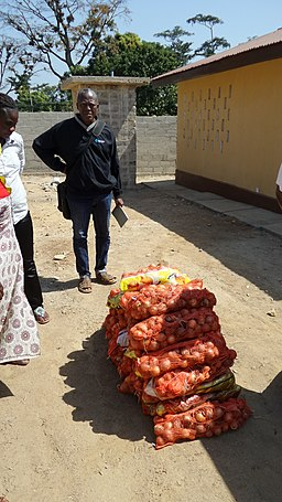 Onion distribution to in Kailahun for the interim care center