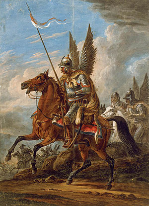 Hussar - Polish Winged Hussar, Painting by Aleksander Orłowski.