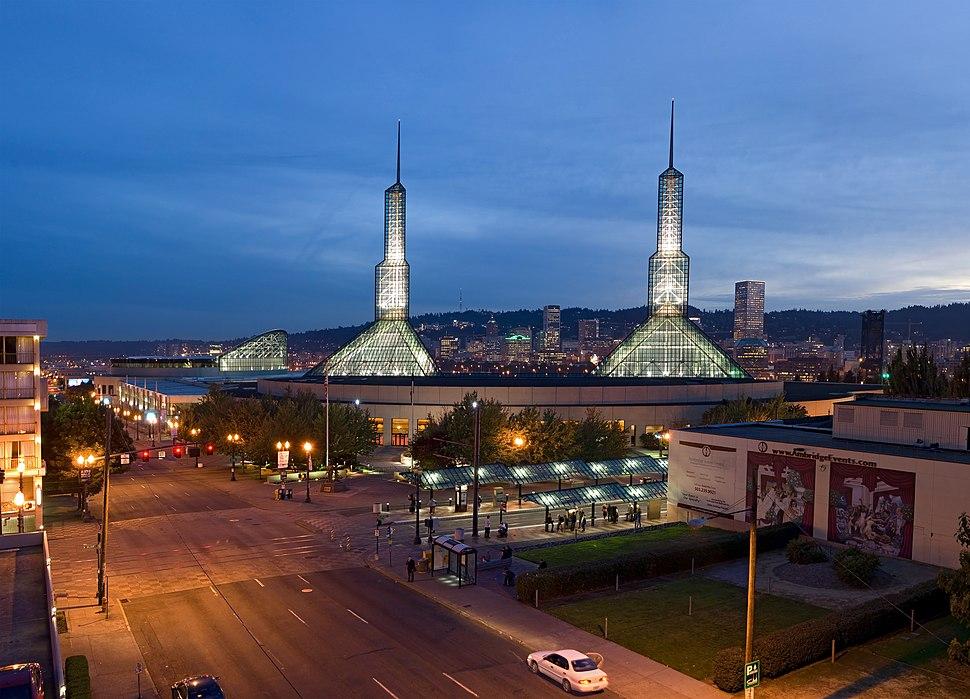 Oregon Convention Center Dusk 1