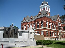 Ogle County Courthouse, downtown