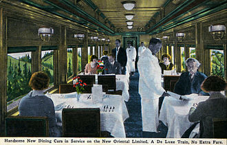 Pullman porter - Porters serving in a dining car, circa 1927