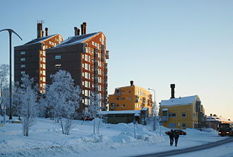 Ralph Erskine (architect) - The Ortdrivaren buildings in Kiruna.