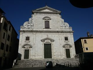 Orte Cathedral building in Orte, Italy