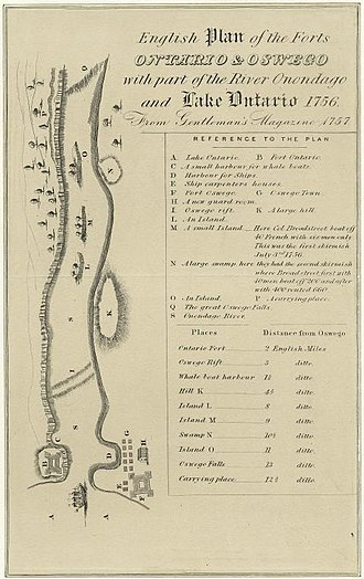 Battle of Fort Oswego (1756) - Image: Oswego 1756
