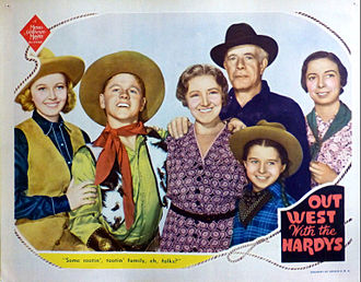 Out West with the Hardys - Lobby card