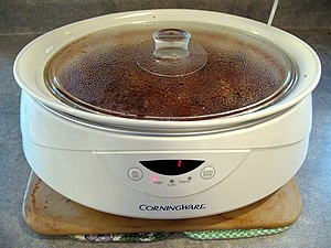 a w:slow cooker Oval Crock Pot