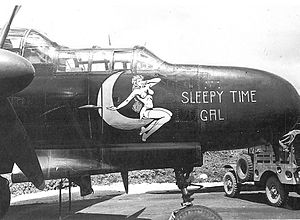 "6th Weapons Squadron - 6th Night Fighter Squadron P-61A Black Widow 42-5598 ""Sleepy Time Gal"", East Field, Saipan, Mariana Islands, September 1944"