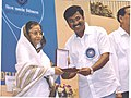 P. Sheshadri receiving the National Film Award for Best Film on Environment Conservation for Bettada Jeeva.jpg