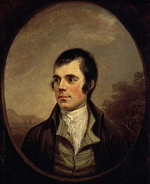Romanticism in Scotland - Robert Burns in Alexander Nasmyth's portrait of 1787