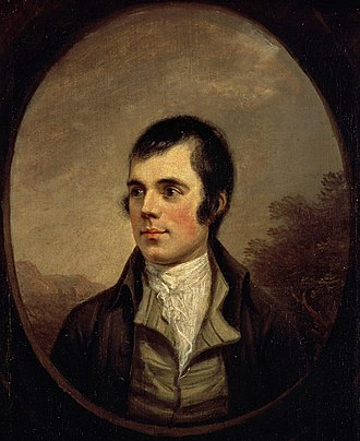 Robert Burns - Full view of the Nasmyth portrait of 1787, Scottish National Portrait Gallery
