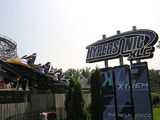 Hypersonic XLC Defunct roller coaster at Kings Dominion